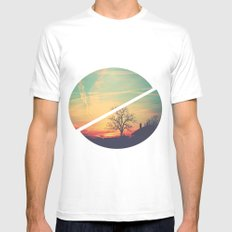 Colored Sky Mens Fitted Tee SMALL White