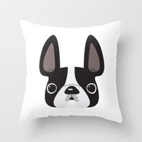 Black Pied W/ White Mark… Throw Pillow