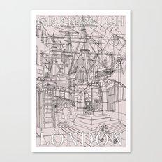 Greenwich London (Musky) Canvas Print