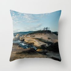 Rugged Pacific City Throw Pillow