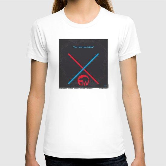 No155 My STAR Episode V The Empire Strikes Back WARS minimal movie poster T-shirt