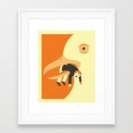 Framed Art Print - Got Him - Jazzberry Blue