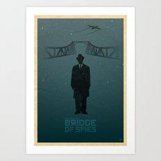 Steven Spielberg's BRIDGE OF SPIES (blue version) Art Print