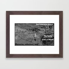 The bottle Framed Art Print