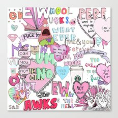 Girly Collage Canvas Print