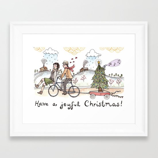 Joyful Christmas Framed Art Print