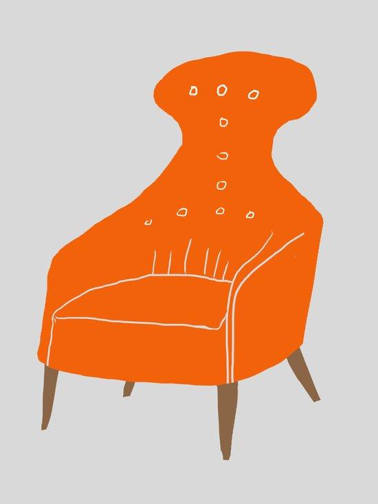 Orange Chair Art Print