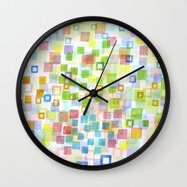 Wall Clock - Raining Squares and Frames - Heidi Capitaine
