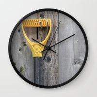 Yellow Handle Wall Clock