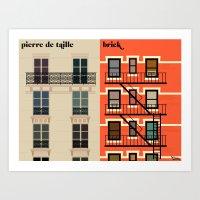 la façade Art Print