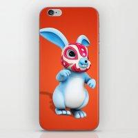 Lucha Rabbit-Blue Brother iPhone & iPod Skin