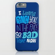 iPhone & iPod Case featuring I Wanna Punch You In The… by Chris Piascik