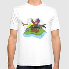 Bigfoot Rocks! SMALL White Mens Fitted Tee