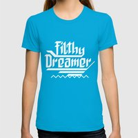 Filthy dreamer Womens Fitted Tee Teal SMALL