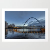 Millenium Bridge Newcast… Art Print