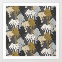 Arboreal Silhouettes - G… Art Print