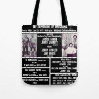 #8-B Memphis Wrestling Window Card Tote Bag