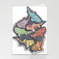 Newspaper Fish Stationery Cards
