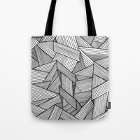 Straight Lines Tote Bag