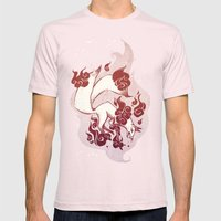 Kitsune Burn Burn Mens Fitted Tee Light Pink SMALL