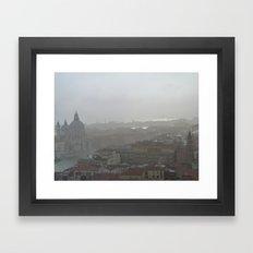 Venice sun and mist Framed Art Print