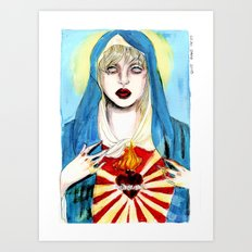 Goddess courtney love Art Print