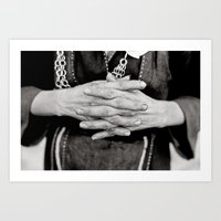 Working Hands Art Print