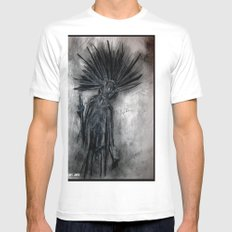 Undead Punk Entity White Mens Fitted Tee SMALL