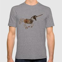 Steampunk Unicorn Mens Fitted Tee Athletic Grey SMALL