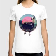 Llama Womens Fitted Tee White SMALL