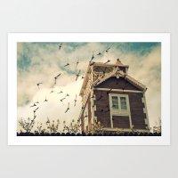 Strange House Art Print