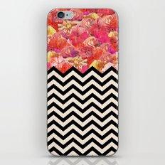 Chevron Flora iPhone & iPod Skin