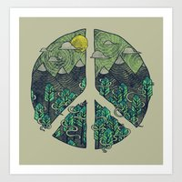 Peaceful Landscape Art Print