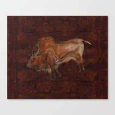Paleolithic Bison Cave Painting Canvas Print