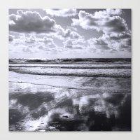 Sylt Mono - Clouds Canvas Print