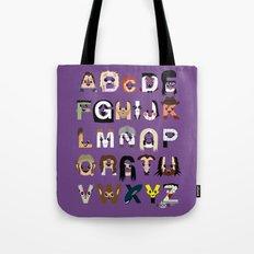 Horror Icon Alphabet Tote Bag