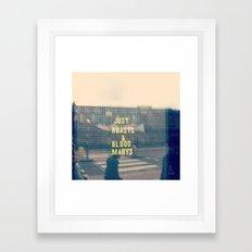 Just Roasts & Bloody Marys Framed Art Print