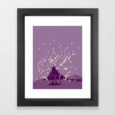 the lost princess.. minimalistic Framed Art Print