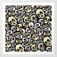 Skull Pattern Art Print
