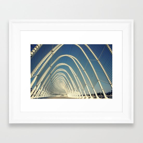 abandoned olymic central, athens Framed Art Print