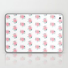 Florals boho modern watercolor blooming blossom garden nature summer spring navy pink white Laptop & iPad Skin