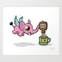 Coffee Fairy Mug Art Art Print