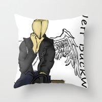 Jeff Buckwheat Throw Pillow