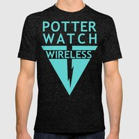 Potterwatch Wireless Mens Fitted Tee Tri-Black SMALL
