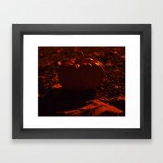 Pumpkin solitude Framed Art Print