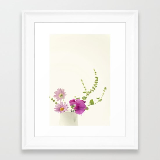 Simply Garden Flowers Framed Art Print