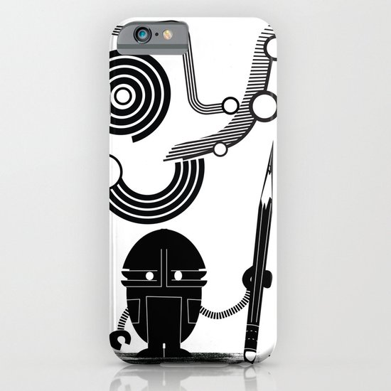 Robot Graffiti  iPhone & iPod Case
