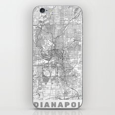 Indianapolis Map Line iPhone & iPod Skin