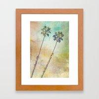 Pastel Palms Framed Art Print