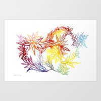 Flower Burst Color High Art Print
